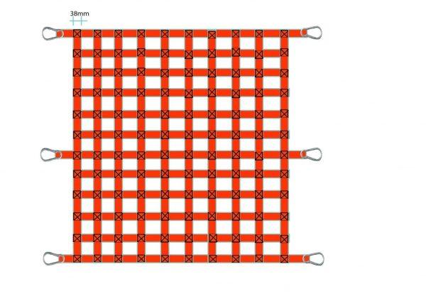 Lưới bẹ trùm hàng thùng xe 2x2.2 mét