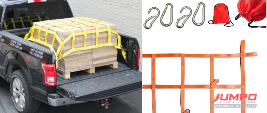 Lưới bẹ trùm hàng thùng xe bán tải 1.4x1.5m