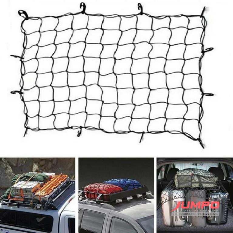 Lưới thun ràng đồ mui xe bán tải SUV 120x90cm