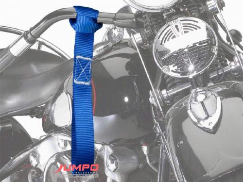 Bộ dây cột chở xe máy 2.5cmx35cm 4pcs màu xanh