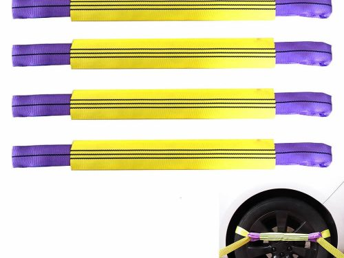 Bộ 4 dây mềm cảo bánh xe vận chuyển ô tô