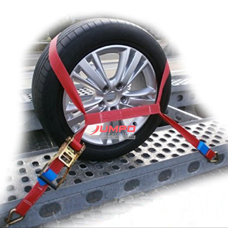 Dây đai mềm vận chuyển ô tô bản50x450mm -Bộ 4 dây