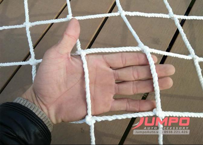 Lưới dù 4mm đuôi thùng xe container 2.4 x 2.6m ô 15cm