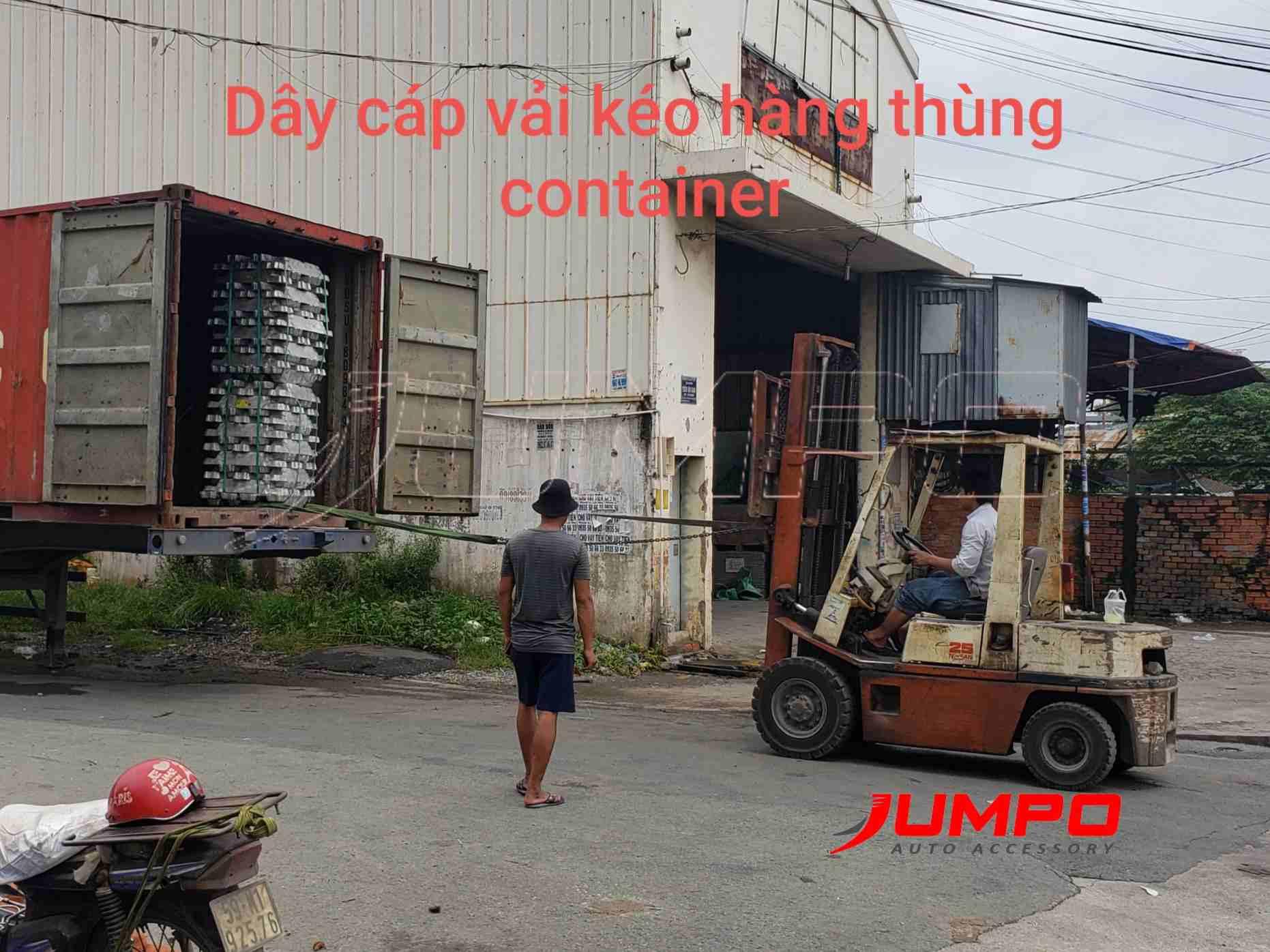 Dây cáp kéo hàng thùng xe container, kéo hàng xe tải